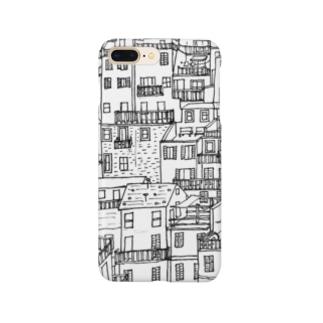 どっかの国の住宅地(mono) Smartphone cases