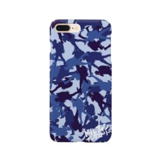 スマホケース・ブルーカモフラ Smartphone cases