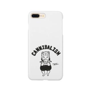 ぷにぷにカニバリズム モノクロ Smartphone cases