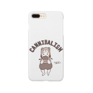 ぷにぷにカニバリズム セピア Smartphone cases
