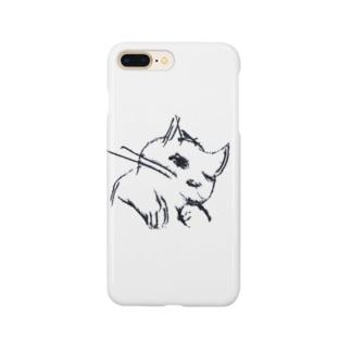 寝起き猫 Smartphone cases