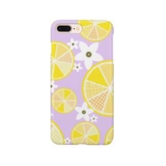 【レモン詰め合わせ】爽やか柄物柑橘系 Smartphone cases