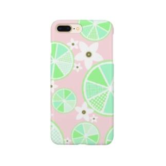 【ライム詰め合わせ】爽やか柄物柑橘系 Smartphone cases