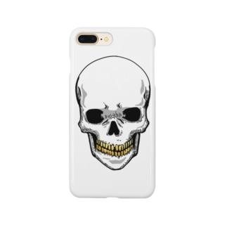 スカル【金歯】 Smartphone cases