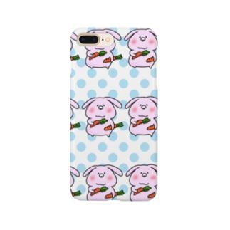 スマホケース あきやこおりDesign 水玉うさぶ Smartphone cases