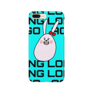 スマホケースあきやこおりDesign うさあごブルー Smartphone cases