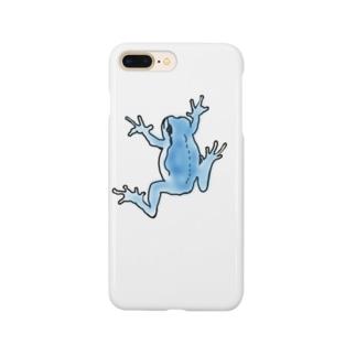 ハウカエル(ブルー) Smartphone cases