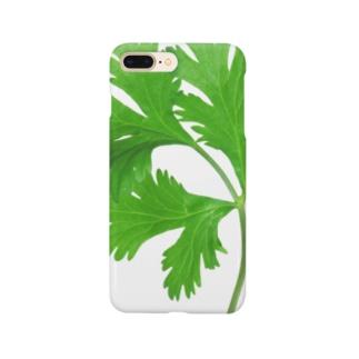 朝採れパクチー(タイ産) Smartphone cases