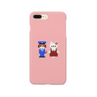 犬のおまわりさんと迷子の子猫ちゃん Smartphone cases