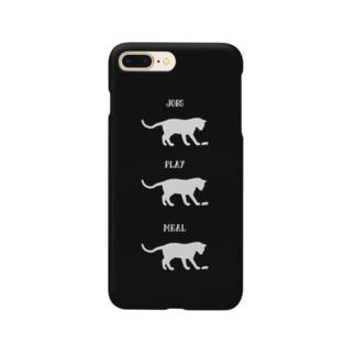 猫の仕事・遊び・食事 Smartphone cases