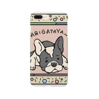 gufufuのフレンチブルドッグの五郎くんありがたや Smartphone cases
