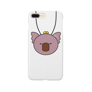 首からコアラ(ぴんく) Smartphone cases