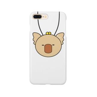 首からコアラ(きいろ) Smartphone cases