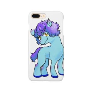 ブルーぽにー Smartphone cases