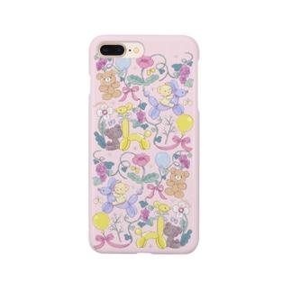 くまちゃんと風船ケース Smartphone cases