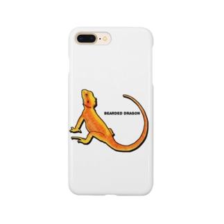 フトアゴ(レッド系) Smartphone cases