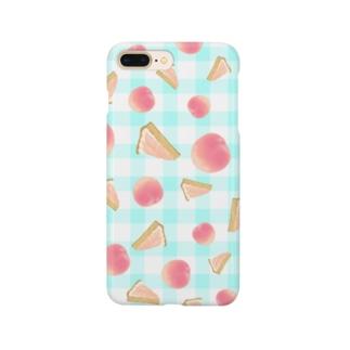 丸ごと桃 & 桃タルト Smartphone cases