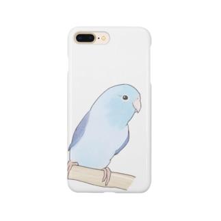 おしゃまなマメルリハのるりちゃん【まめるりはことり】 Smartphone cases
