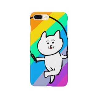 縄跳びダンスねこ Smartphone cases