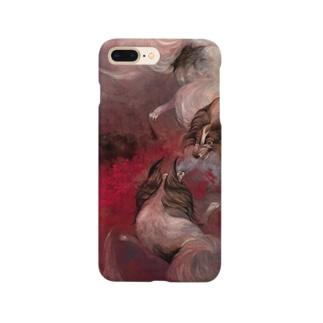 日本画 犬 Smartphone cases