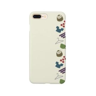 秋色はりねずみ Smartphone cases
