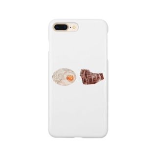 牛タンと麦飯のとろろがけ Smartphone cases