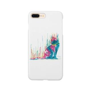 ネコ_cat.1_watercolor Smartphone cases