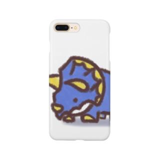 クレヨン トリケラトプスくん Smartphone cases