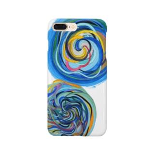 相互引力イラスト Smartphone cases