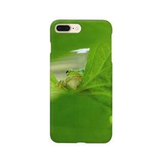 ゴーヤ葉とカエルさん Smartphone cases