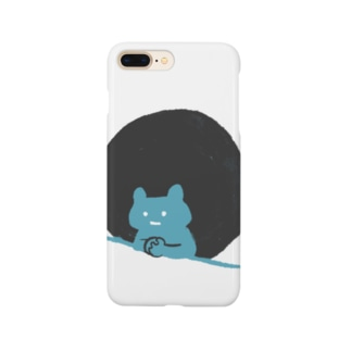 考えるクマ Smartphone cases