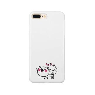 matsukingのルンっルンっネコちゃん Smartphone cases