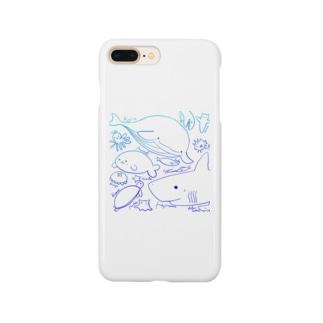 うみのなかまたち色 Smartphone cases