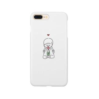 女の子 チューリップ Smartphone cases