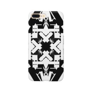 スクエア(黒) Smartphone cases