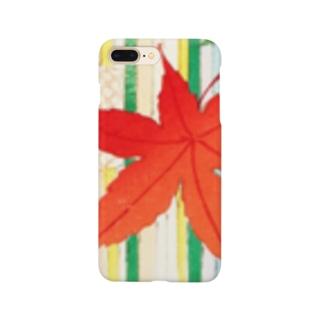 秋限定デザイン もみじ(拡大) Smartphone cases