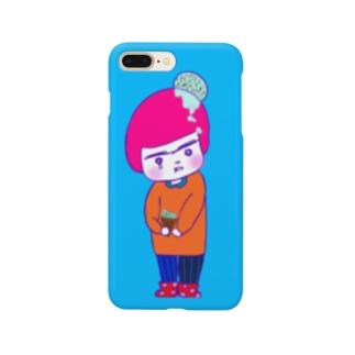 中島重工の転落の青背景3:4 Smartphone cases