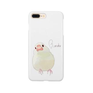 クリームイノ文鳥 Smartphone cases
