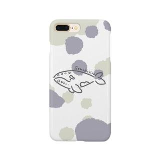 渋色セミクジラちゃん Smartphone cases