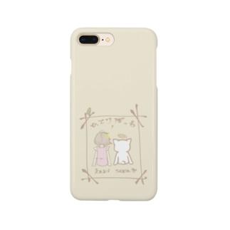 ひとりぼっちのかみさま。ロゴ  Smartphone cases