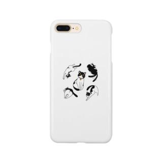 にゃんこ Smartphone cases