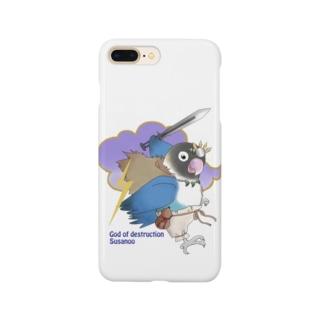 ボタンインコ(破壊神スサノオ) Smartphone cases