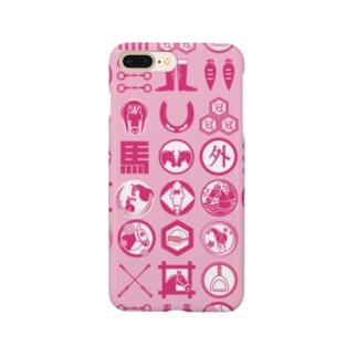 馬紋 (ピーチ) Smartphone cases