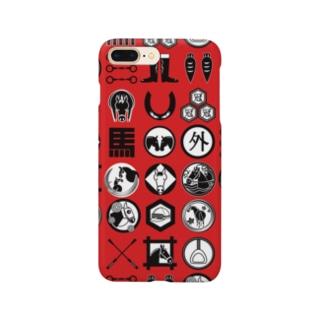 馬紋 (レッド) Smartphone cases