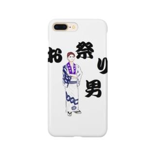 お祭り男 Smartphone cases