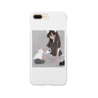 猫をさわる Smartphone cases