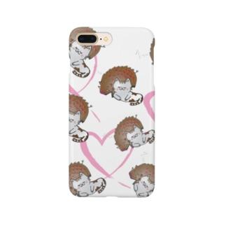 お昼寝iPhoneケース Smartphone cases