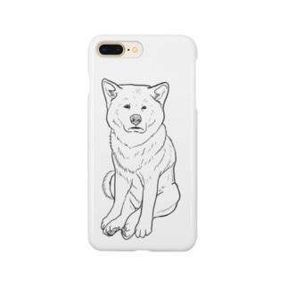 ZAZEN白秋田犬 Smartphone cases