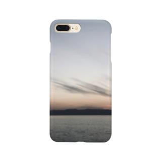海、夕暮れ Smartphone cases