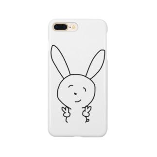 ぴーすうさぎ Smartphone cases
